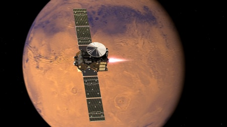 For the second time already, semiconductors from Infineon help searching for traces of life on Mars. The ExoMars 2016 mission of ESA has reached its destination with a half dozen different components supporting camera systems and analytic tools. (Pictures/Animations: ESA)