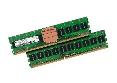 Fb-DIMM 1GB: Infineon Technologies is sampling the industry\'s only Double Data Rate 2 (DDR2) Fully Buffered Dual-In-line Memory Modules (FB-DIMMs) with all key components designed and manufactured by a single DRAM supplier.