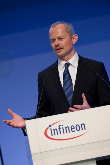 Peter Bauer, Chief Executive Officer of Infineon Technologies AG, at the Infineon Annual General Meeting on February 17, 2011 in Munich, Germany.