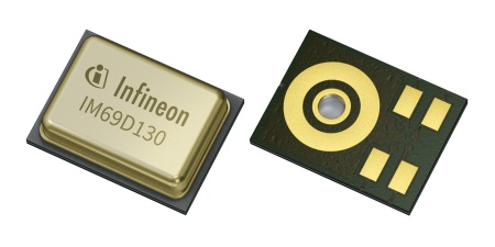 Infineon's dual backplate MEMS technology uses a membrane embedded within two backplates thus generating a truly differential signal. The SNR is improved by 6 dB to 70 dB which is equivalent to doubling the distance from which a user can give a voice command that is captured by the microphone.