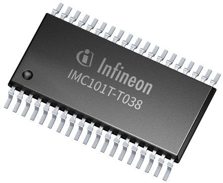 iMOTION IMC100 features Field Oriented Control (FOC) for permanent magnet synchronous motors. It uses space vector PWM with sinusoidal signals to achieve highest energy efficiency and can utilize single or leg shunt current feedback.