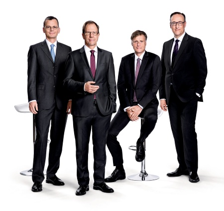 Management Board of Infineon Technologies AG: Dominik Asam, Dr. Reinhard Ploss,  Jochen Hanebeck, Dr. Helmut Gassel (from left)