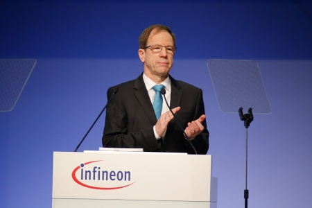 Dr. Reinhard Ploss, CEO Infineon Technologies AG, during his speech at the Annual General Meeting 2017.