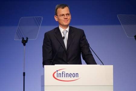 Dominik Asam, CFO Infineon Technologies AG, during his speech at the Annual General Meeting 2017.