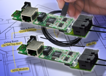Infineon Enables Mass Deployment of Video Home Networking: Reliable Plastic Optical Fiber Solution Transmits High-Definition Content to the End-User's TV or Audio Set<br><br>Infineon erschließt Massenmarkt für Video-Home-Networking: Zuverlässige Plastic Optical Fiber (POF)-Lösung bringt hoch auflösende Daten zu TV/Audio-Endgeräten