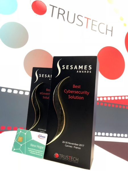 "Two ""SESAMES Awards"" for post-quantum cryptography on contactless security chip"