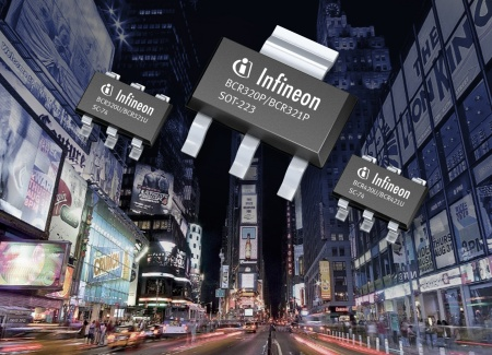Infineon's BCR320 and BCR420 linear LED driver product families are specifically designed for use in 0.5W LEDs with a typical current of 150mA to 200mA. The dimensions of the SC-74 package are 2.9mm x 2.5mm x 1.1mm, those of the SOT-223 package 6.5mm x 7.0mm x 1.6mm.