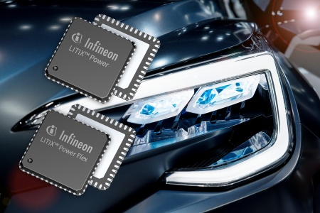 The LED drivers LITIX™ Power Flex and LITIX™ Power are specifically designed for automotive front lights. They address flexible DC/DC driver solutions supporting LED systems of up to 50 W and even above. They can drive many medium-power LEDs with string voltages of up to 55 V or few LEDs with high currents of up to 3 A and more.