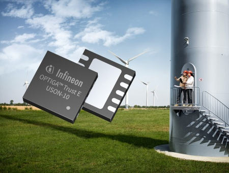 The new OPTIGA™ Trust E offers an easily implementable solution to protect manufacturers' valuable IP from being attacked, analyzed, copied and modified. This helps manufacturers of wind mills, for example, to avoid damage and warranty claims caused by unqualified service or fake parts.
