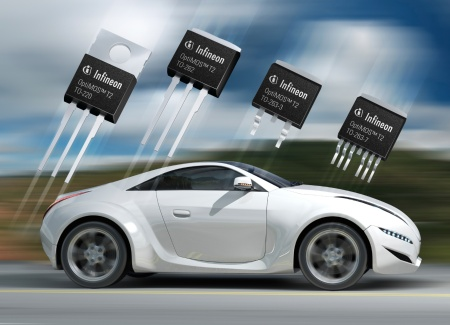 Infineon offers automotive qualified 100 percent lead-free power MOSFETs in TO package types. The 40V OptiMOS™ T2 power MOSFETs combine Infineon's thin wafer process technology and innovative packaging technology: the diffusion soldering die attach approach to connect chip and package leadframe.