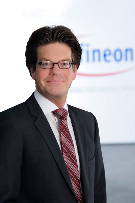 "Peter Schiefer, President of the Automotive division at Infineon Technologies AG: ""In close cooperation with the car industry and IT, Infineon supports the communication solutions for the automated car with its cutting-edge semiconductors and with system and security expertise."""