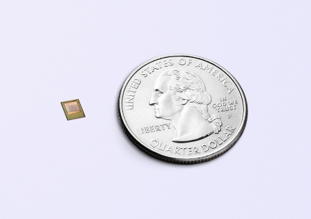 Infineon's new 3D image sensor chip of the REAL3™ family is based on the Time-of-Flight (ToF) technology. It enables the world's smallest camera module for integration in smartphones with a footprint of less than 12 mm x 8 mm.