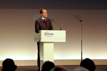 Dr. Reinhard Ploss, CEO Infineon Technologies AG, during his speech at the Annual General Meeting 2015.