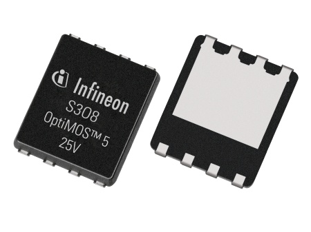 Infineon's OptiMOS 25V and 30V product family offers benchmark solutions with efficiency improvements of around 1 percent across the whole load range compared to its previous generation, exceeding 95 percent peak efficiency in a typical server volt-age regulator design.