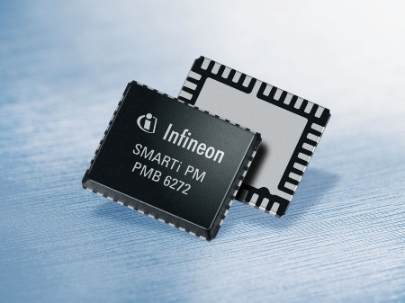 The SMARTi PM (PMB 6272) is a quad-band single-chip CMOS transceiver for GSM/GPRS/EDGE 850/900/1800/1900 voice and high-performance data transfer applications.<br><br>Der SMARTi PM (PMB 6272) ist ein CMOS-Single-Chip für Sprach- und Datentransfer-Applikationen. Er unterstützt die Standards GSM/GPRS/EDGE850/900/1800/1900.