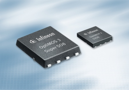Using the S3O8 package (only 3 mm x 3 mm), OptiMOS® 3 saves up to a 60 percent board space required for MOSFETs in converter system designs. The family OptiMOS 3 improves reliability and energy efficiency of DC/DC converters in computers, telecommunications and consumer electronics devices featuring industry-leading performance in key power conversion measures, such as on-state resistance, power density and gate charge. <br><br>Im S3O8-Gehäuse (nur 3 mm x 3 mm) spart OptiMOS® 3  im Spannungswandler-Design bis zu 60 Prozent Boardfläche für die MOSFETs ein. Die Leistungshalbleiter-Familie OptiMOS 3 steigert die Energieeffizienz von Netzteilen in Computern, Telekommunikationsgeräten und Konsumelektronik. Sie bietet höhere Zuverlässigkeit und industrieweit beste Leistungsmerkmale beim Einschaltwiderstand, der Leistungsdichte oder der Gate-Ladung.