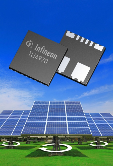 The TLI4970 is a high-precision current sensor. With dimensions of just 7x7x1mm it requires only a sixth of the board space taken up by existing sensors on the market today. It is ideally suited for use in solar inverters, electric drives, charging devices and power supplies as well as for controlling LED lighting units.