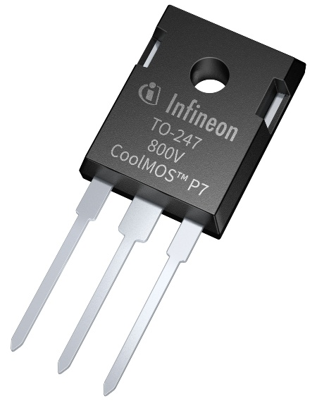 The 800 V CoolMOS P7 series offers up to 0.6 percent efficiency gain which translates into 2 to 8 °C lower MOSFET temperature compared to similar products. The MOSFET is easy to drive and to design-in due to its industry leading V(GS)th of 3 V and the smallest VGS(th) variation of only ±0.5 V.