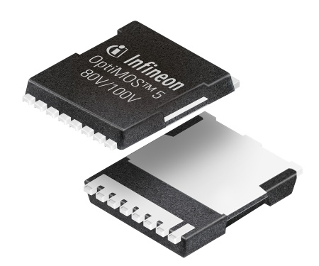 The new OptiMOS 5 MOSFETs offer the industry's lowest on-state resistance - up to 45% reduction for 80V and up to 24% reduction for 100V compared to the previous generation.