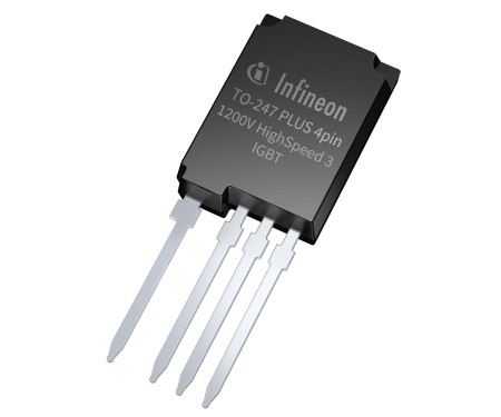 The TO-247PLUS 4pin package features an extra Kelvin emitter source pin, allowing for an ultra-low inductance gate-emitter control loop. It reduces the total switching losses E(ts) by more than 20 percent.