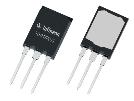 Infineon's new TO-247PLUS package enables up to 120A IGBT co-packed with a full rated diode in the same footprint and pin-out as JEDEC standard TO-247-3.