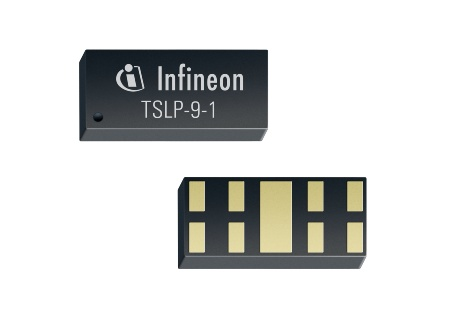The package technology TSLP-9-1 enables optimum PCB layouts, with a single diode protecting up to four traces.