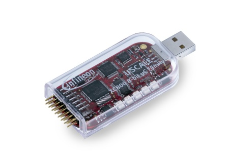 The USCALE starterkit is contained in a USB (Universal Serial Bus) stick that provides full evaluation capabilities for Infineon's 8-bit microcontrollers XC866, XC886 and XC888, all on an ultra-low-cost 3-in-1 platform.
