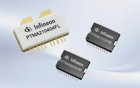 The Infineon dual integrated LDMOS power amplifiers for wireless network base stations are incorporating two LDMOS amplifiers in a single package, providing two output power stages, making them ideal for Doherty-based amplifiers and for compact designs that benefit from reduced board space.