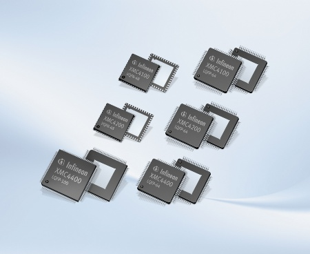 The XMC4000 family was specially developed for industrial applications. As the first Cortex™-based microcontrollers, the XMC4400, XMC4200 and XMC4100 offer a high-resolution PWM unit. With a PWM resolution of just 150ps, they are especially suitable for digital power conversion in inverters as well as switching and uninterruptible power supplies (UPS).