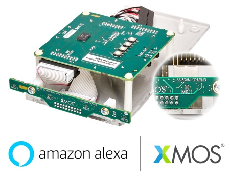 With Infineon XENSIV™ MEMS microphones: XMOS announces their new stereo-AEC far-field linear development kit for Amazon AVS