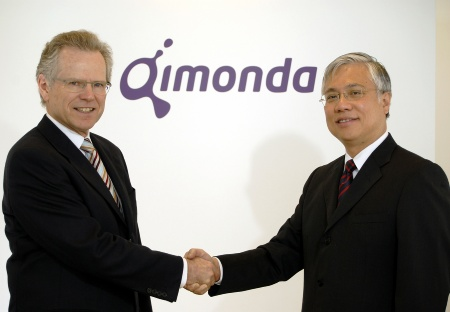 CEO Dr. Wolfgang Ziebart (left) of Infineon Technologies AG and Kin Wah Loh, CEO-designate of Qimonda AG<br><br>Dr. Wolfgang Ziebart (links), Vorstandsvorsitzender der Infineon Technologies AG und Kin Wah Loh, designierter Vorstandsvorsitzender der Qimonda AG