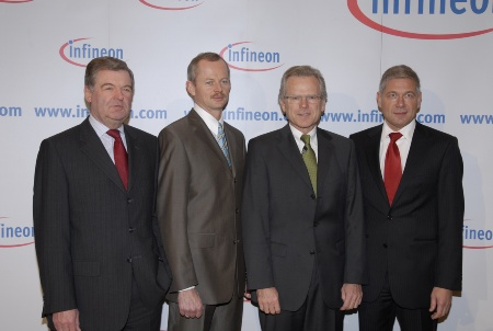Peter Fischl, Peter Bauer, Dr. Wolfgang Ziebart, Prof. Dr. Hermann Eul (from left to right)