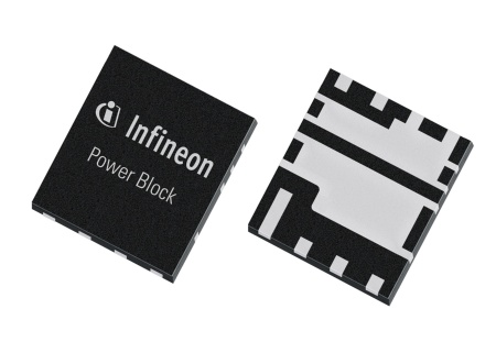Infineon`s Power Block is a leadless SMD package comprising the low-side and high-side MOSFET of a synchronous DC/DC converter into a 5.0x6.0mm2 pack-age outline, shrinking customers designs by up to 85%.