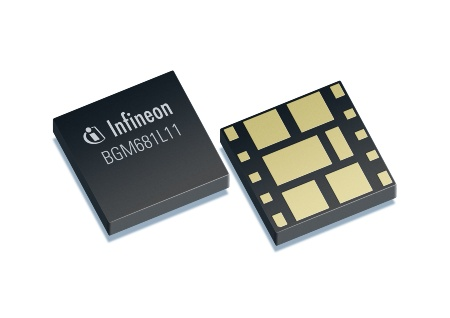 The BGM681L11 is the world's smallest GPS Receive Front-End Module. It comes in a tiny leadless TSLP11-1 package that measures just 2.5 mm x 2.5 mm x 0.6 mm in size which which is more than 60 percent smaller than the closest competitor product.