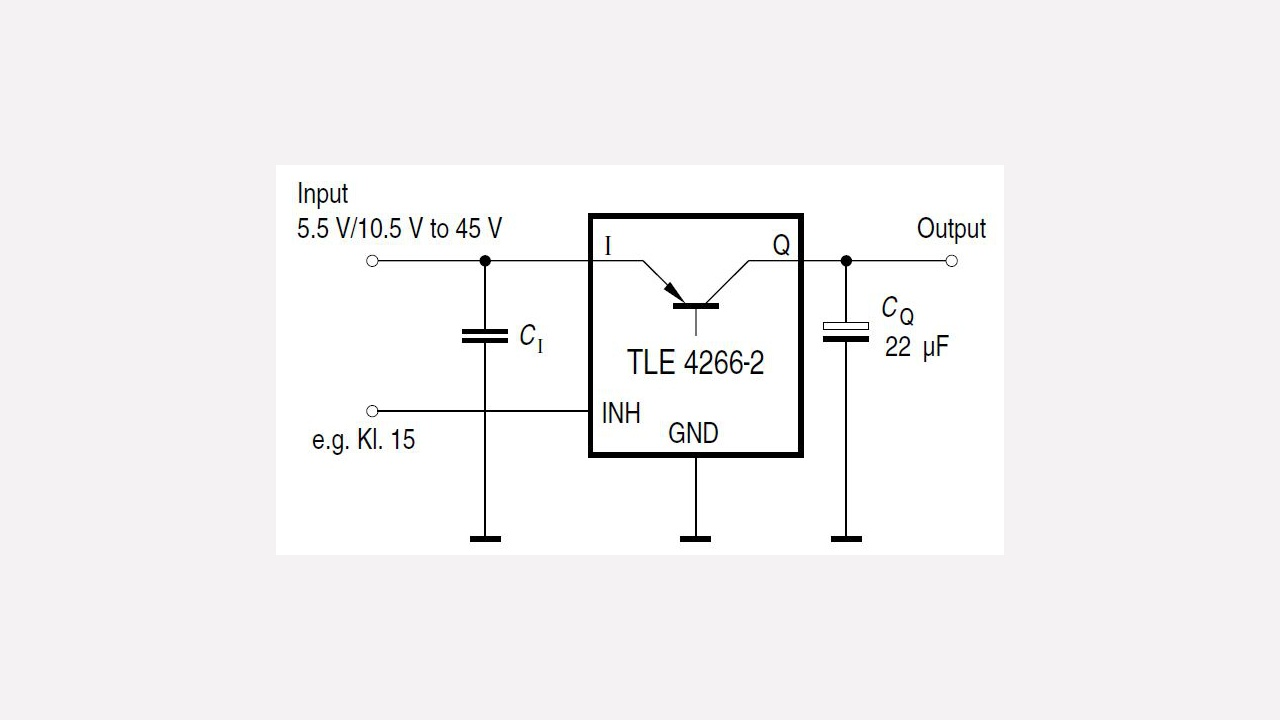 Tle4266 2g Infineon Technologies General Application Schematic For Mosfet Voltage Regulators With Prevnext