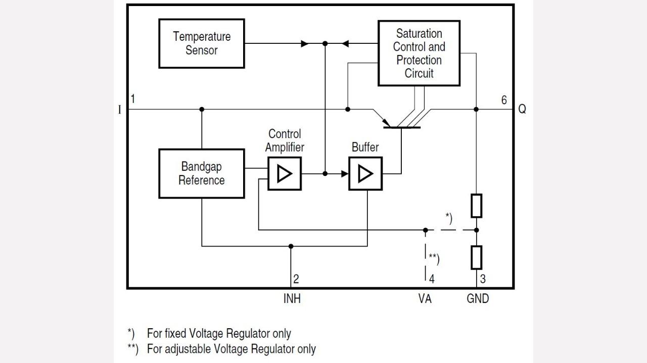 Schematic Diagram Series Circuit | Tle4276sv Infineon Technologies