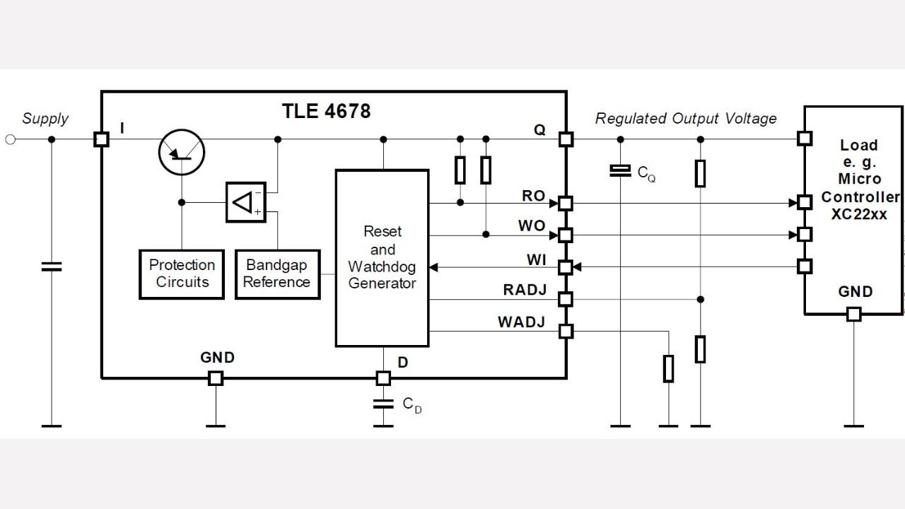 Tle4678el Infineon Technologies Electronic Watchdog Circuit Diagram Diagrams Prevnext