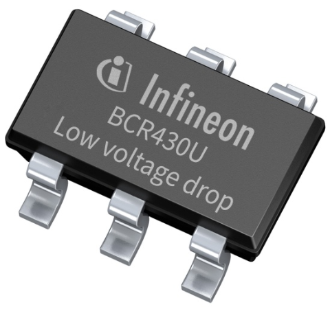 Infineon package picture BCR430U SOT23 6-pin linear LED driver IC