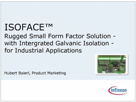 Isolated Industrial Interface - Infineon Technologies