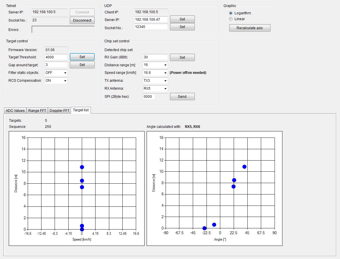 Kit Atv 24ghz Radar Infineon Technologies Pc Schematic Automation Screenshot 6 Software Gui Exmaple For Target Display