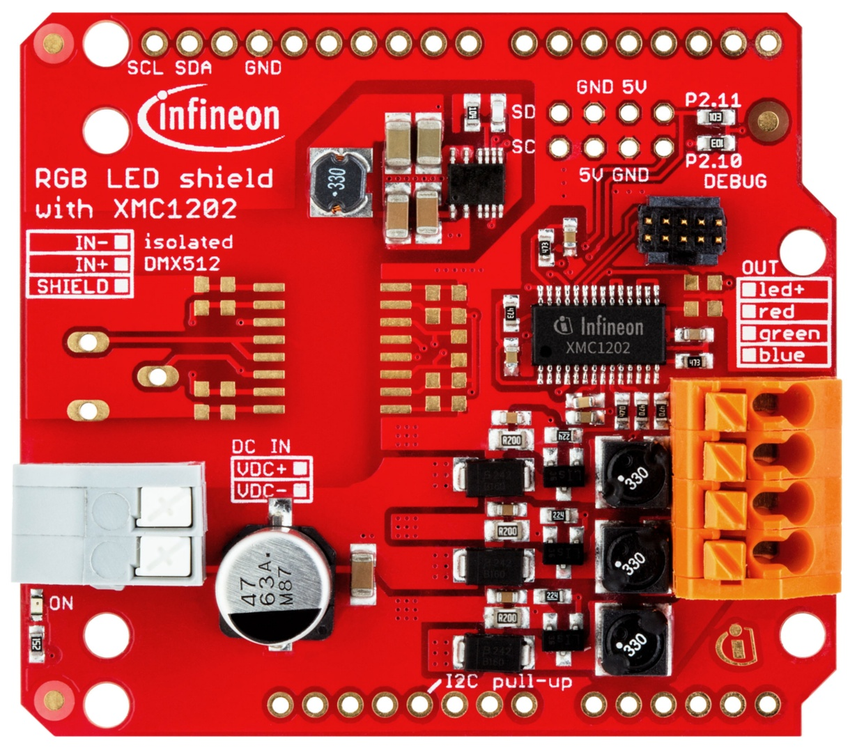 Kit led xmc as infineon technologies