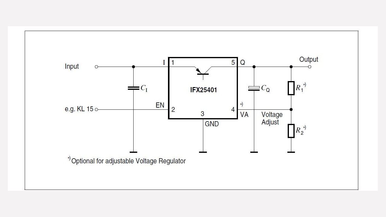 Ifx25401tbv Infineon Technologies Voltage Regulator With Shutdown Digital Circuit Diagram Diagrams Prevnext
