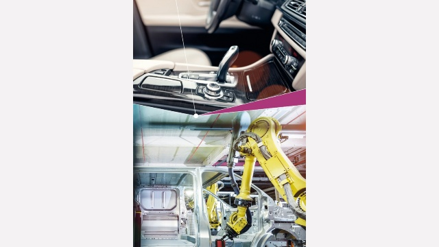 Typical automotive interior application as well as Industry 4.0 - angle sensors