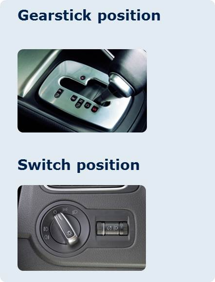 Gearstick and switch postion