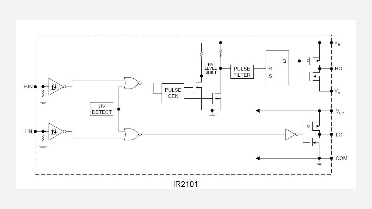 Ir2101 Infineon Technologies Linear Optocoupler Circuit Soft Start For 12 Volt Halogen Lamps Prevnext