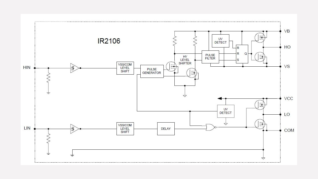 Ir2106 Infineon Technologies Ref Relay Circuit Diagram Diagrams Prevnext