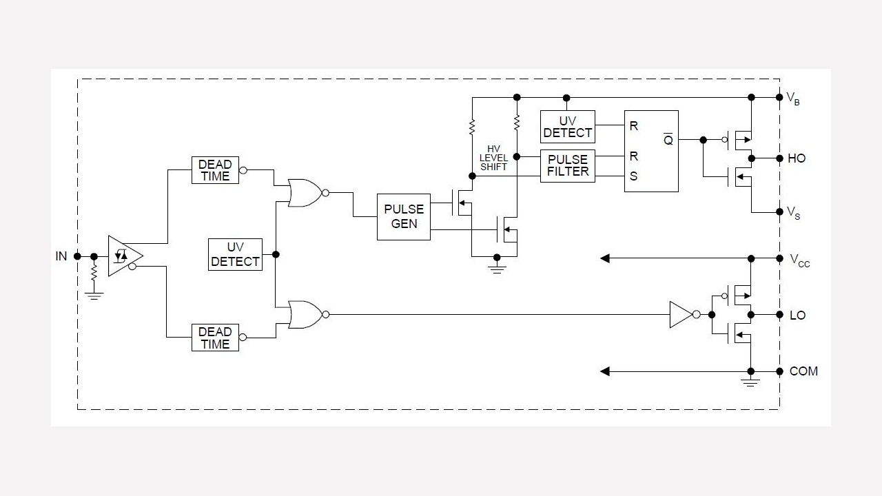 Ir2111 Infineon Technologies Linear Optocoupler Circuit Soft Start For 12 Volt Halogen Lamps
