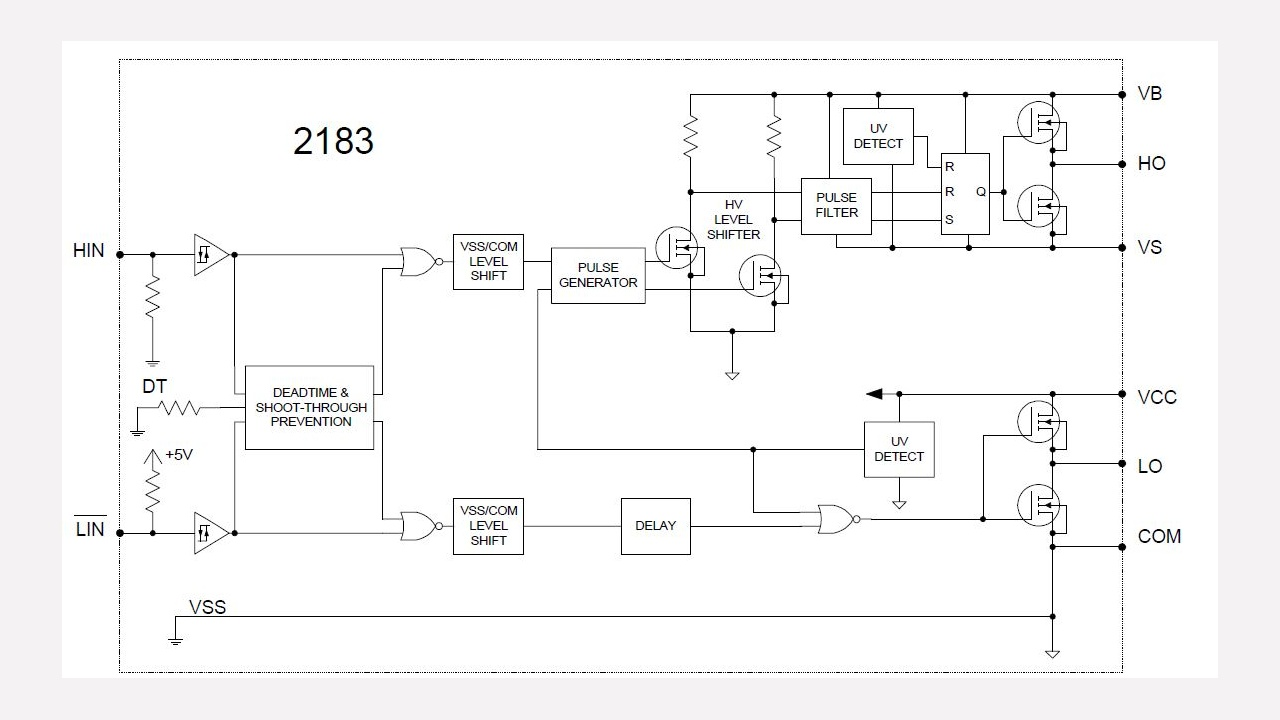 Ir2183 Infineon Technologies Voltage Floating Regulator Here Is The Schematic Or Download It As A Prevnext