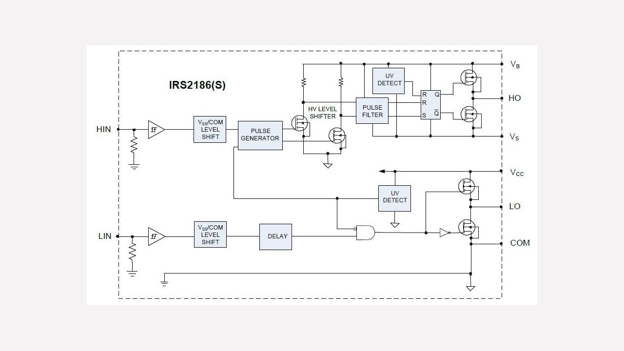 Irs2186 Infineon Technologies Washing Machine Circuit Diagram On Manual Generator Diagrams Prevnext