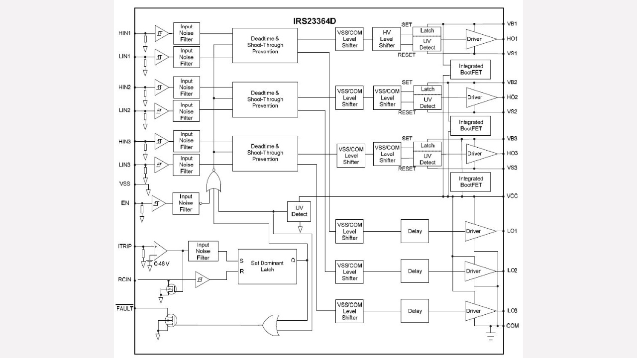 Irs23364ds Infineon Technologies Circuit Diagram Basic Low Voltage Latching Relay Driverhtml Diagrams Prevnext